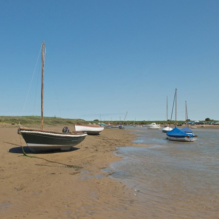 Creekes at Overy staithe harbour