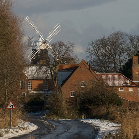 Burnham Overy Staithe Mill Winter