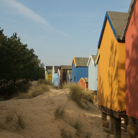 Back of Wells next the sea beach huts